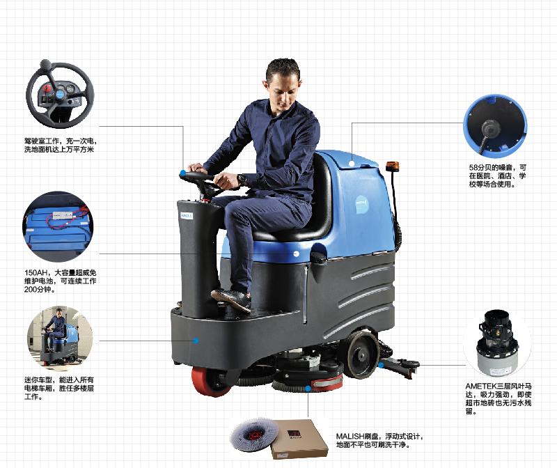 容恩Rongen R-QQ驾驶式洗地机_洗地车