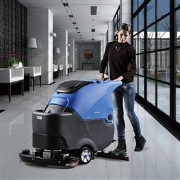 容恩自动洗地机R70BT|容恩手推式双刷洗地机