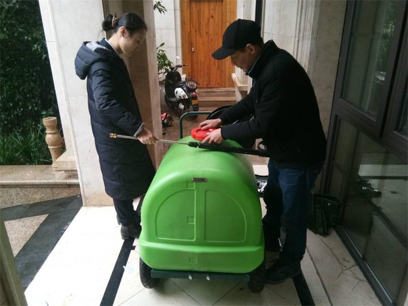 gdzm—275高压水枪为金华某物业公司提供专业的清洁服务